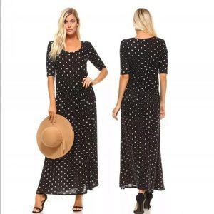 NWT Christine V cottagecore black polka dot dress